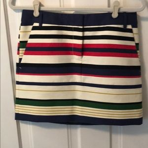 J crew color block skirt